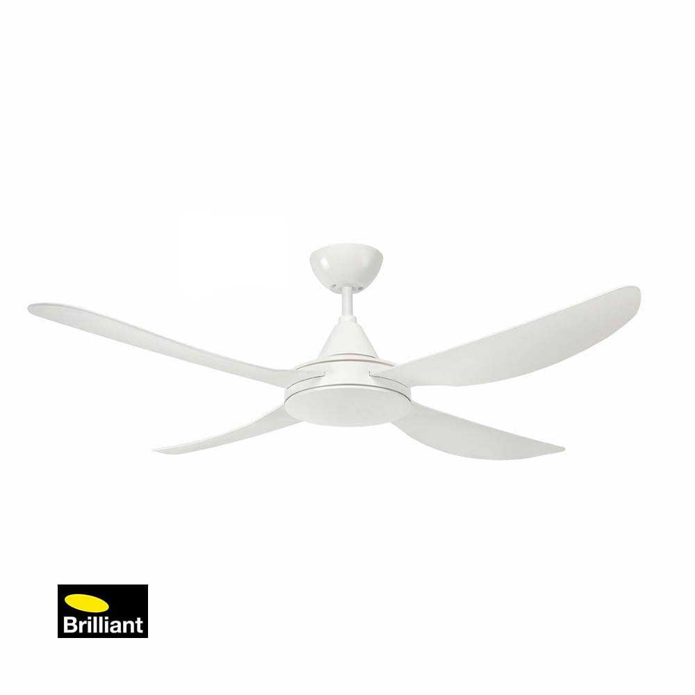 Brilliant Vector White Ceiling Fan Installation