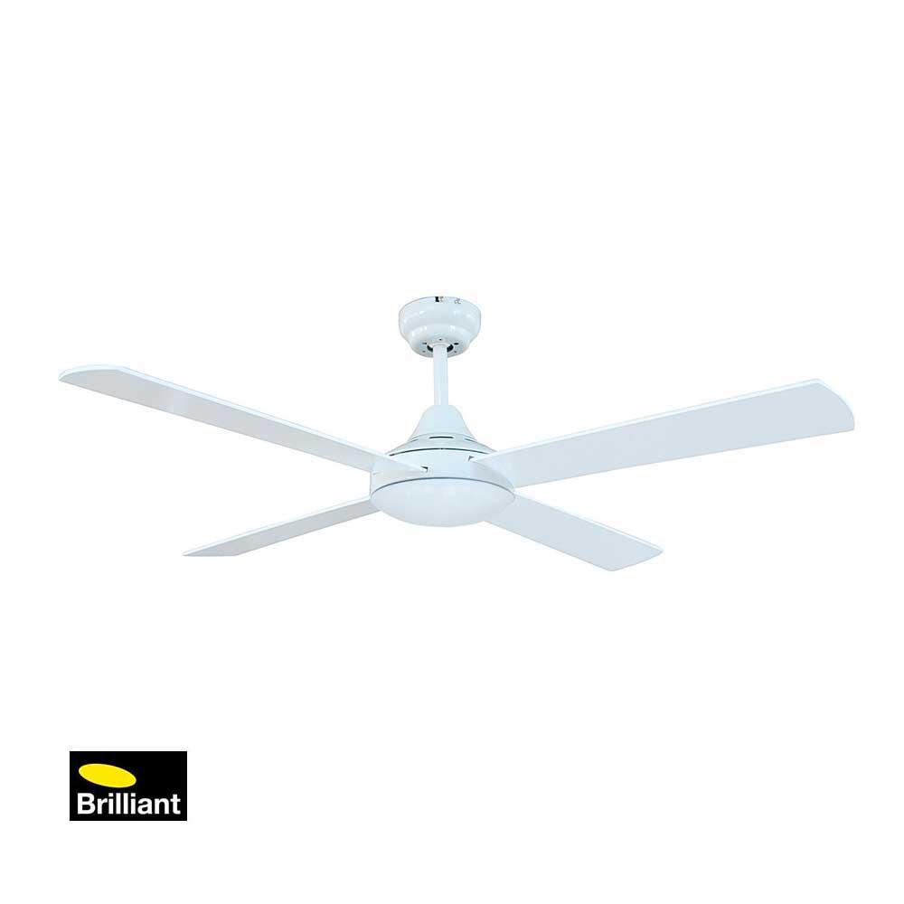 Brilliant Tempo White Ceiling Fan Installation